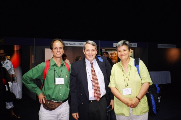 DAvid Freeland, John McDonald and Sue Cochrane at Gold Coast WFAS conference 2004