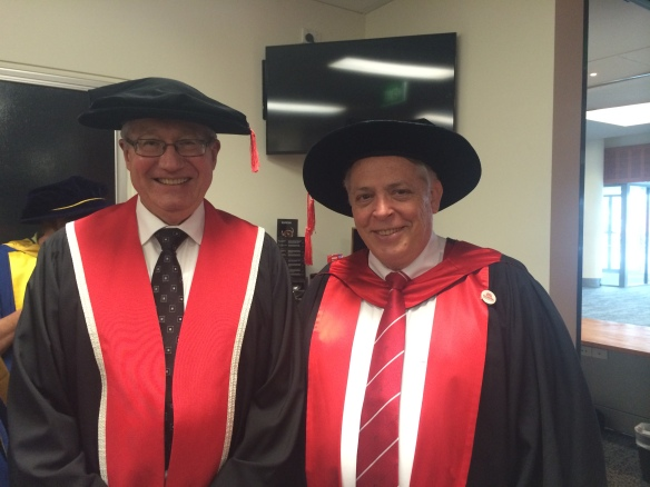 Prof Allan Cripps and Dr John McDonald at graduation