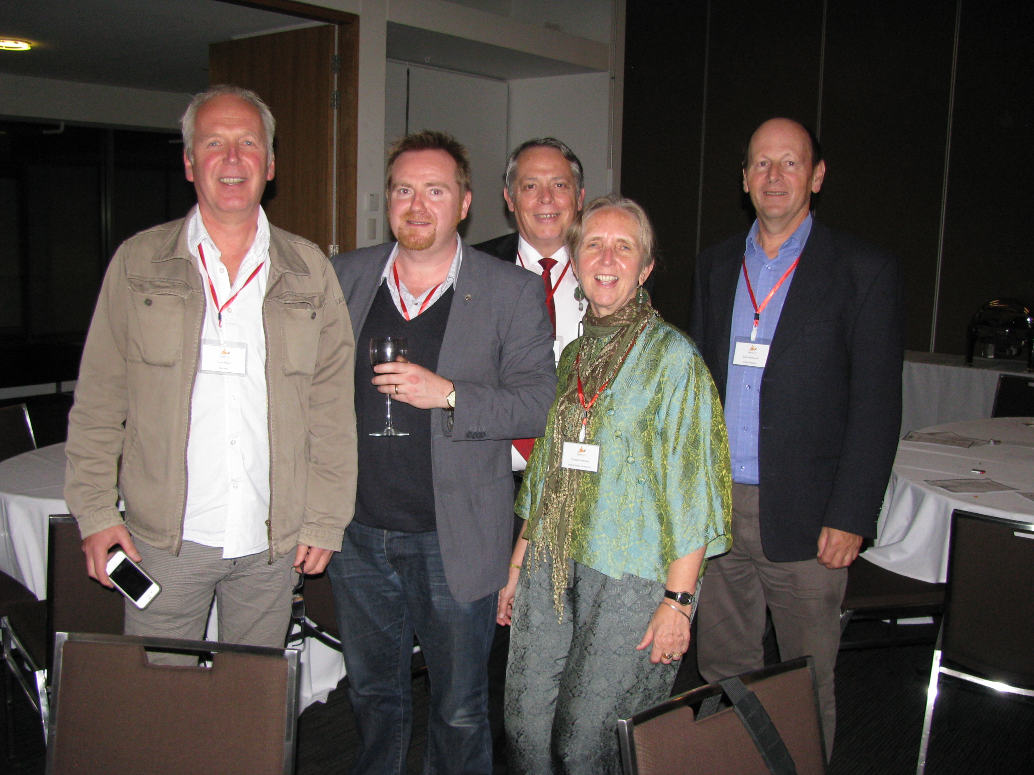 Terje Alraek, John Adams, John McDonald, unknown & Hugh MacPherson at ISAMS conference Sydney 2012
