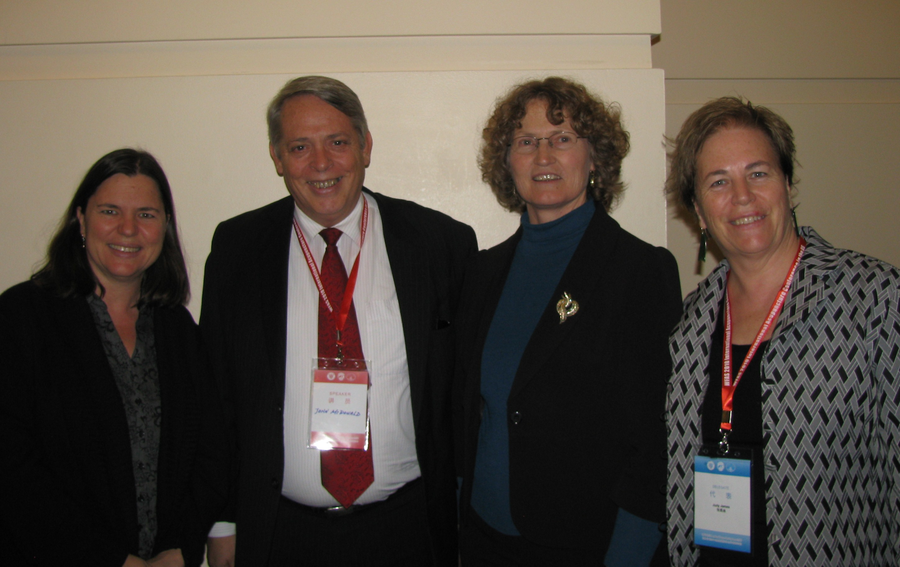 Brenda Golianu, John McDonald, Paddy McBride and Judy James at San Francisco WFAS 2010