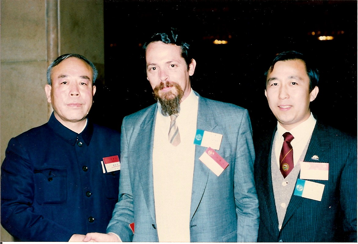 Hu Ximing, John McDonald & Hoc Ku Huynh at the Great Hall of the People, Beijing 1987