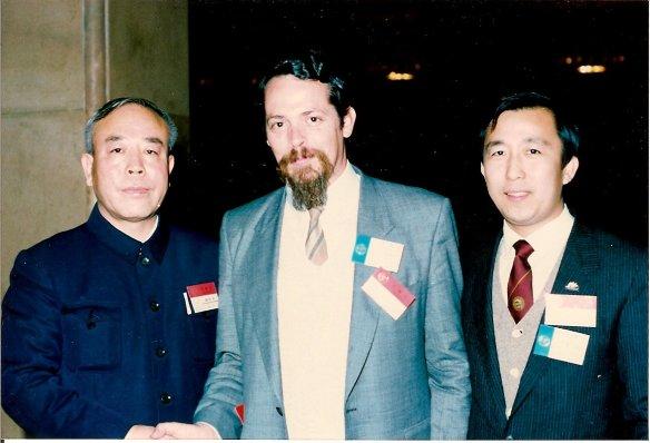 Hu Ximing, John McDonald & Hoc Ku Huynh at the Great Hall of the People, Beijing 1987