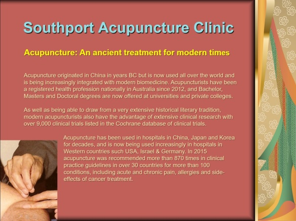 Southport Acupuncture Clinic front page